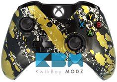 Custom Gold Splatter Xbox One Controller - KwikBoy Modz