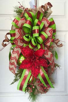 country christmas swag christmas wreath rustic by williamsfloral