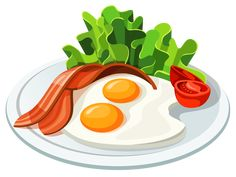 Eggs and Bacon PNG Vector Clipart Clip art Food drawing Food cartoon