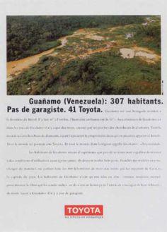 Read more: https://www.luerzersarchive.com/en/magazine/print-detail/toyota-14570.html Toyota Guanamo (Venezuela): 307 inhabitants. No car mechanics. 41 Toyotas. Claim: My Toyota is fantastic. Tags: Australie, Levallois Perret,Hervé Riffault,Toyota,Daniel Fohr