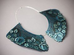 Wow. Beautiful!!  Julietje Collar- Laser Cut Layered Wood with Sterling Silver Chain on Etsy, $110.00
