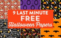 9 Last Minute Free Halloween Papers for craft projects! Halloween Make, Paper Halloween, Halloween Ideas, Sister Crafts, Some Bunny Loves You, Tea Design, Halloween Scrapbook, Christmas Tree Cards, Trick Or Treat Bags