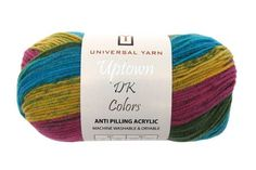 Uptown DK Colors Universal Yarns. Nice combinations. 273 yards/100 grams for $ 6.00