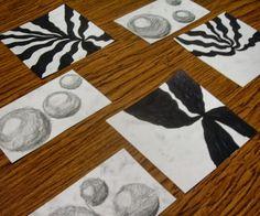 Fine Lines: Op Art, Spheres and 3rd Graders