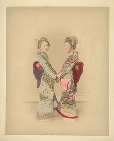 Japanese Album by A. Farsari & Co, Ajuntament de Girona, Public Domain Landscaping Images, Public Domain, Hand Coloring, Japanese, Album, Photography, Portraits, Painting, Art
