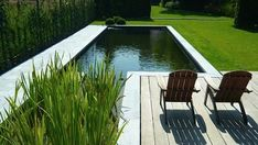 The epdm membrane is the ideal waterproofing for a natural pool so Natural Swimming Ponds, Natural Pond, Swimming Pools, Outdoor Life, Outdoor Pool, Outdoor Gardens, Outdoor Living, Pool Water Features, Water Features In The Garden