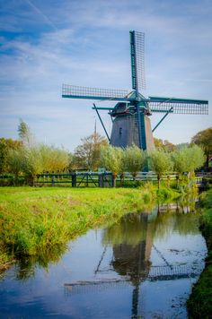 Molen 'De Veer' windmill, Amsterdam, Netherlands.