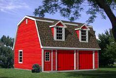 26 x 22 Elevation of Garage Plan 94343