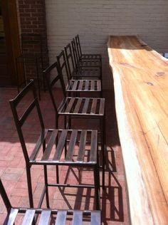 Steel bar stool built for Holland House Bar & Refuge in East Nashville by #metalfreddesigns