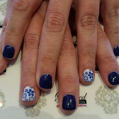 """Flow Blue China #nails inspiration with vivid cobalt blue stamp pattern.  #nailswag #nailart #naildesign #nailsokc #okcnails #yukonsbest #okcBest #okc #nails #bestnailsalon #getpolished #bestManiPedi #BestFacial #polishednailsok #getPamperedAtPolished"" Photo taken by @polishednailsok on Instagram, pinned via the InstaPin iOS App! http://www.instapinapp.com (04/17/2015)"