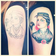 Ines' amazing Mary Poppins tattoo | Design by Quyen Dinh, tattoo by Carlos Saburido