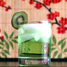 Tokyo Iced Tea cocktail recipe: Kiwi liqueur, tequila, rum, vodka, gin, 7-up, sugar