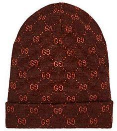 c720ba690 Gucci GG Logo Alpaca-Wool Beanie