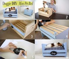 Make a cute & easy pet bed for your fur baby!The cutest DIY pet bed ideas that are sure to make your favorite fur babies happy.Dying to try this Diy Toys Easy, Diy Dog Toys, Pet Toys, Easy Diy, Diy Cat Bed, Diy Bed, Homemade Pet Beds, Dog Beds For Small Dogs, Dog Rooms