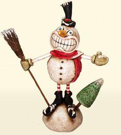 Christmas Gallery - Chicken Lips - folk art from artist David H. Everett - His work is so weird, I love it!