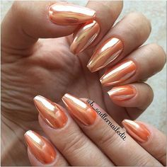 ✨Shop for #ChromePowder at DAILYCHARME.COM!✨ .  Via @b_sadlernailedit -  Bought some good quality Chrome powder from @daily_charme this is AGA03 and is worth every penny!  Applied over neon orange gel polish.