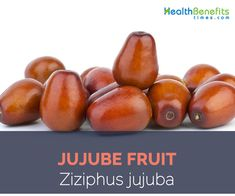 """Jujube botanically known as Ziziphus jujube, also known as Chinese red date, Da Zao, and Chinese date is a popular """"drupe"""" fruit of Chinese origin. It grows in natural wild and cultivat…"""