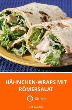 Hähnchen-Wraps mit Römersalat - smarter - Zeit: 30 Min. | eatsmarter.de