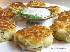 Crab Cakes---more crab than cake, just the way we like 'em!