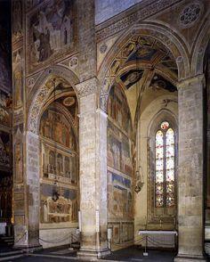 Le cappelle Bardi e Peruzzi, dipinte da Giotto e dalla sua bottega,basilica di Santa Croce a Firenze.