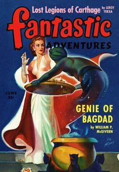 Sci Fi Fantastic Adventures Featuring The Genie Of Bagdad