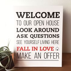 Open House Welcome Sign - No.1 | All Things Real Estate