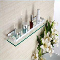 35 см Стеклянная полка для ванной комнаты Прямоугольник на стене