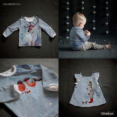 "Finnish design christmas jersey ""Joulusikermä"" by Mari Ahokas - Marakassi Design. Produced by Kangaskapina. Fabric Design, Winter, Tops, Christmas, Women, Fashion, Winter Time, Xmas, Moda"