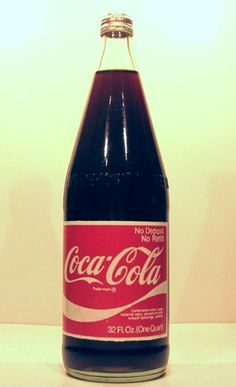 1974 Cone Top Screw Top Glass no returnable bottle Coca-Cola US