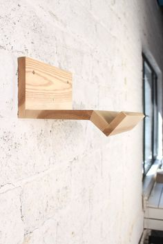 Wooden rack for a bicycle/ bicycle shelf/ Minimalist by VeloPolka