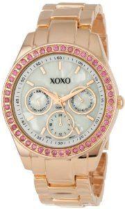 XOXO Women's XO5298A Rhinestone Accent Rose Gold Bracelet Watch