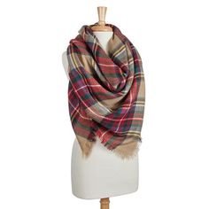 Plaid Scarf Blanket Scarf Gift Suggestion for Women Christmas Scarves Scarf