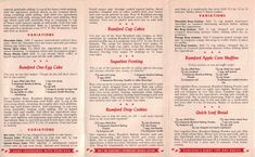 recipe pamphlet handed out by Rumford Baking Powder during World War II