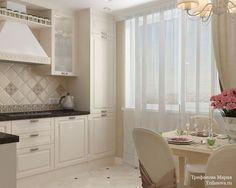 Женская классика. Трехкомнатная квартира в Москве. Кухня Home Decor Kitchen, Kitchen Interior, Interior Design Living Room, Living Room Designs, Kitchen Banquette, Dining Nook, Minimalist Bedroom, Shabby, Apartment Design