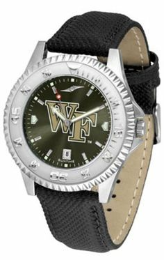 Wake Forest Demon Deacons Competitor AnoChrome Men's Watch with Nylon/Leather Band by SunTime. $85.45. Showcase the hottest design in watches today! A functional rotating bezel is color-coordinated to compliment the NCAA Wake Forest Demon Deacons logo. A durable, long-lasting combination nylon/leather strap, together with a date calendar, round out this best-selling timepiece.The AnoChrome dial option increases the visual impact of any watch with a stunning radial refle...