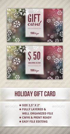 My new gift card design - Grab it while it's cold:)