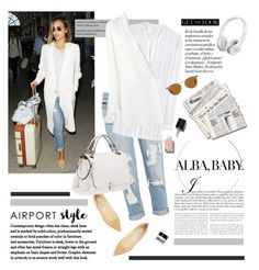 """Airport Style"" by barngirl ❤ liked on Polyvore featuring Vince, Chanel, Bobbi Brown Cosmetics, Lanvin, Jimmy Choo, Miu Miu, Beats by Dr. Dre and Oliver Peoples"