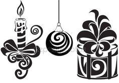 Set for Christmas Christmas Stencils, Christmas Vinyl, Christmas Crafts, Christmas Decorations, Xmas, Christmas Ornaments, Tree Stencil, Stencil Art, Diy And Crafts