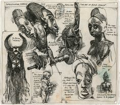 The Journals of Legendary Artist Barron Storey. Sketchbook Inspiration, Art Sketchbook, Paul Klee, Poesia Visual, Neo Expressionism, African Art, African History, Tribal Art, Artist At Work