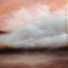 sensing a softness touching the earth, painting by Sharon Kingston Abstract Landscape, Landscape Paintings, Sky Painting, Oil Painters, Sky Art, Types Of Art, Kingston, Color Inspiration, Blush