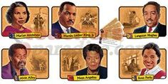 Bulletin Board Set African-American Achievers (12 Realistic Portraits) | by TeachersParadise.com | Teacher Supplies & School Supplies