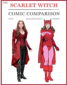 "909 Likes, 25 Comments - • Accurate.MCU • mcu fanpage (@accurate.mcu) on Instagram: ""• SCARLET WITCH - COMIC COMPARISON 2.0 • I really like the MCU Wanda, more as the comic Wanda…"""