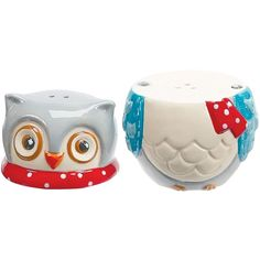 Snowy Owl Salt And Pepper Shakers
