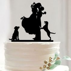 "Cake Topper /Cake Decoration /Cake Decorating (Romantic Wedding) Material: Acrylic - Color: Black Approx. Size: - Romantic Couple: 6.5"" x 4.1"" (16.5cm x 10.5cm) - Mr & Mrs: 6.1"" x 5.3"" (15.5cm x 13.5c"