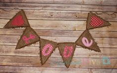 Valentine's Day Love Pennant Banner Digital by theappliquediva