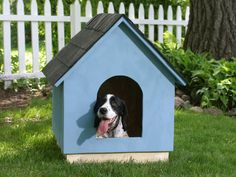 HOW TO BUILD A SIMPLE A-FRAME DOGHOUSE (page 1 of 5)Give your dog a cozy space to take naps and escape the weather.