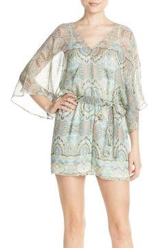 Charlie Jade Kimono Sleeve Silk Chiffon Romper available at #Nordstrom