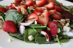 Spinach, strawberry and walnut salad, from Aggie's Kitchen.