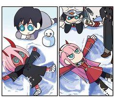 Zero Two and Hiro