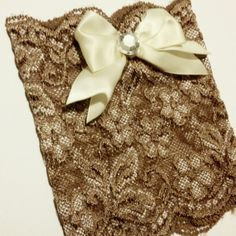 Tan boot cuffs with classy bow!  These ones sparkle in the sun they are so pretty!!   Www.etsy.com/shop/MostBeautifulDesigns